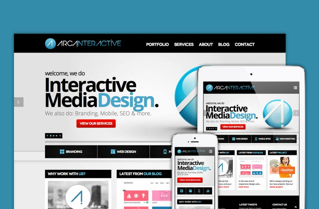arca interactive responsive website