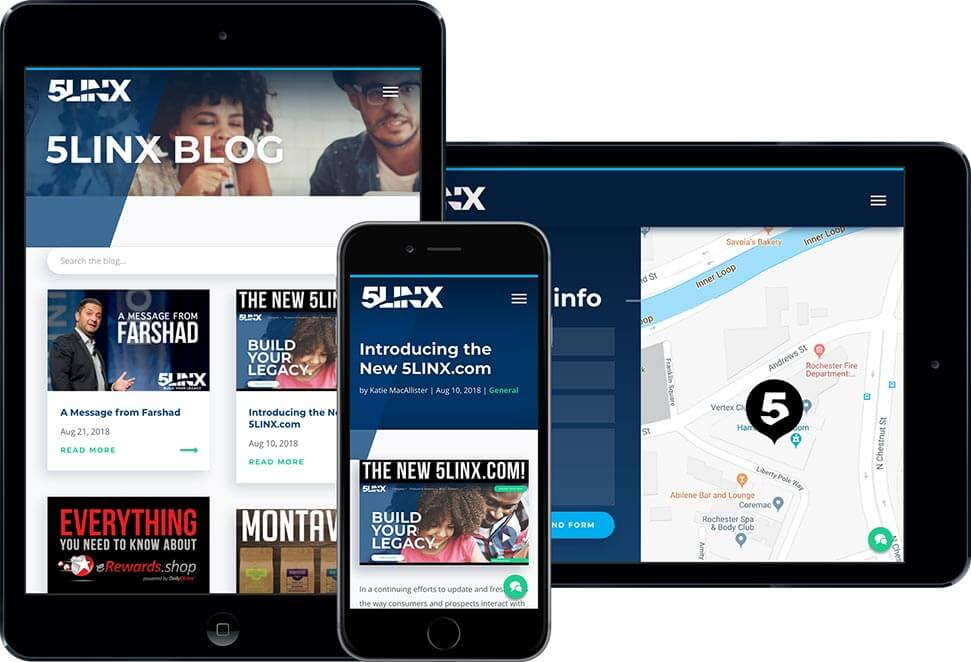 5LINX Responsive Tablet Site Design
