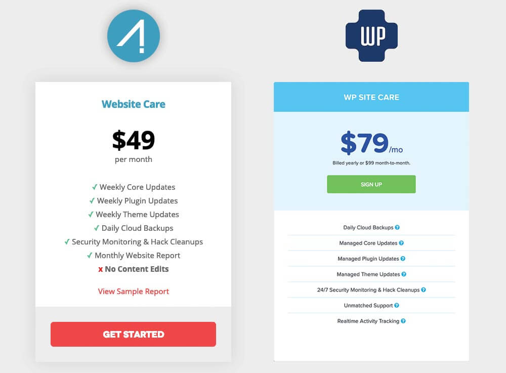 wordpress-maintenance-comparison
