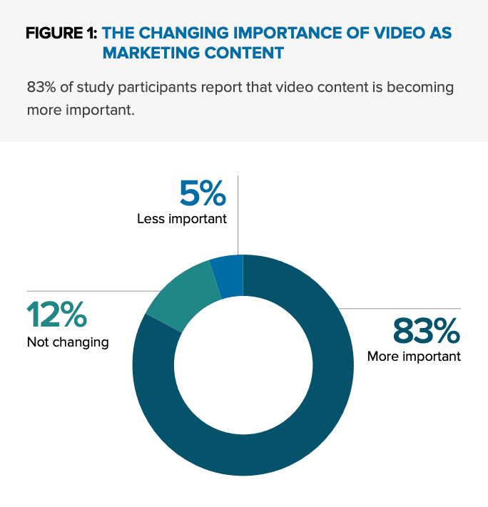 83% of marketing experts believe video is the most important marketing techniques