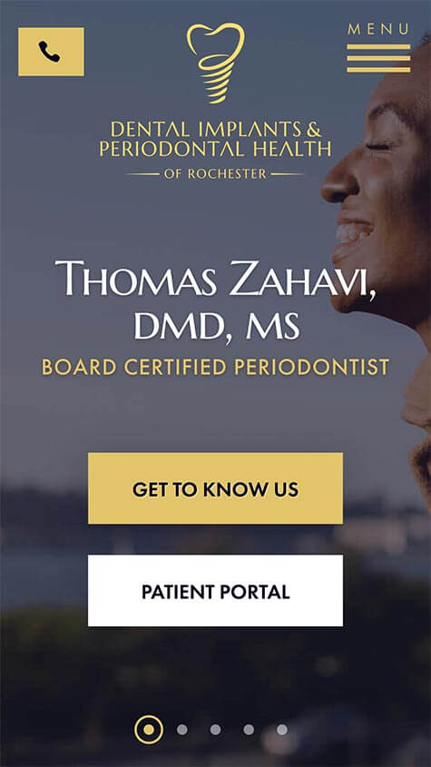 Dental Implants & Periodontal Health Mobile Website Rochester NY
