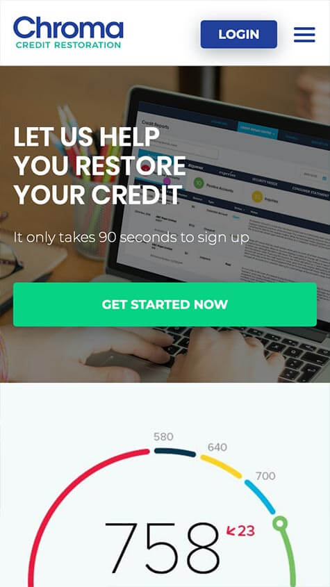 Chroma Credit Responsive Mobile Site Design