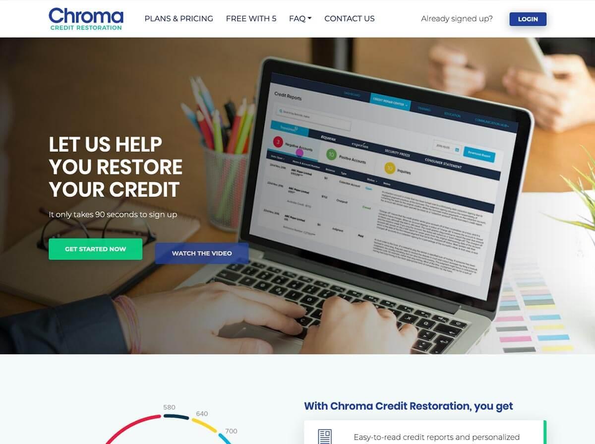 Chroma Credit Website Design