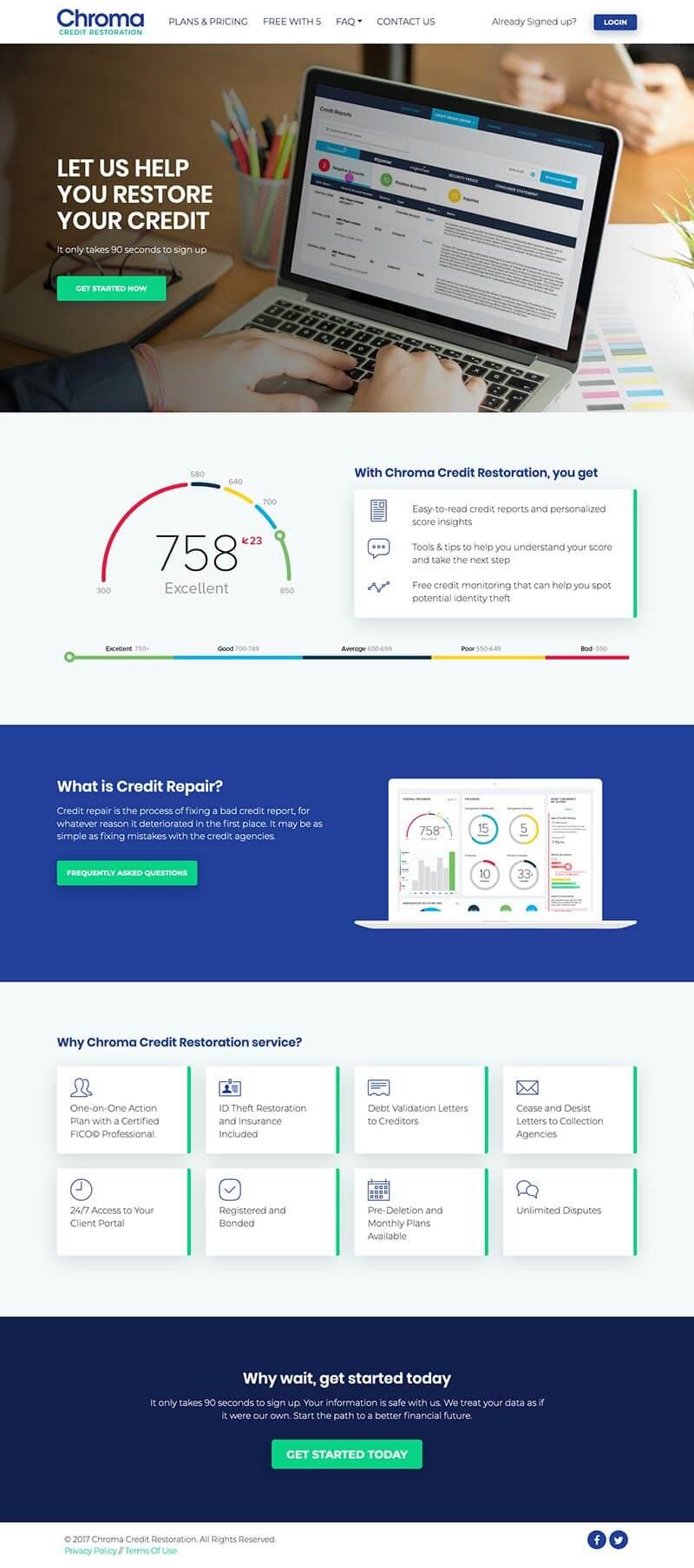 Chroma Credit Website Development