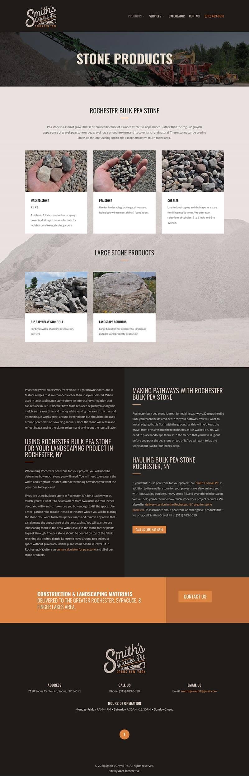 Smiths Gravel Pit Web Design