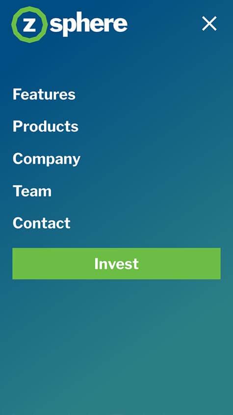 ZSphere Mobile Website Design