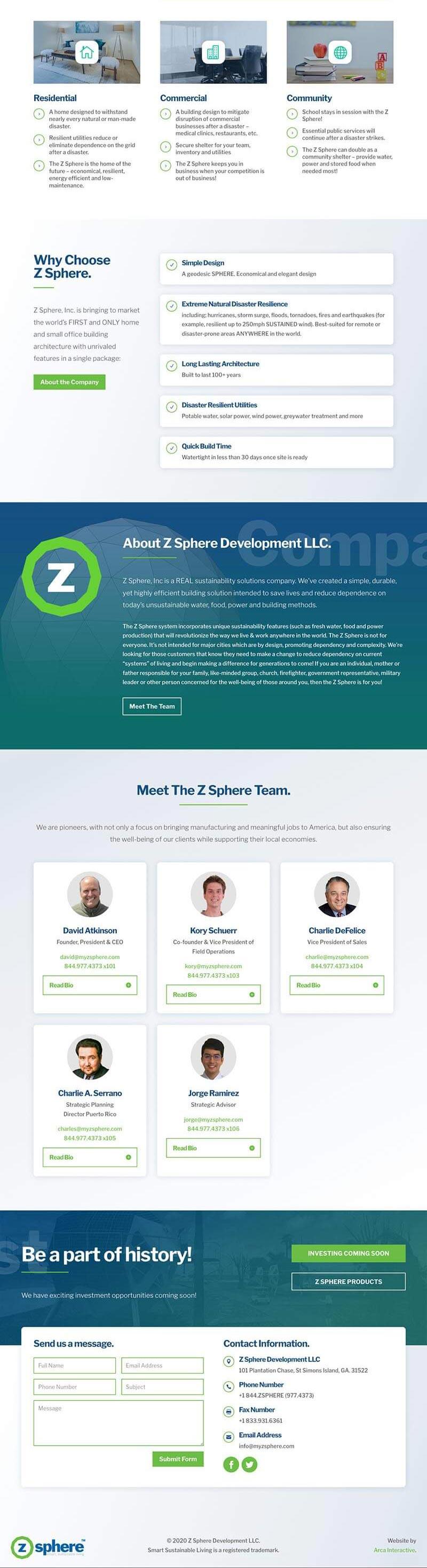 ZSphere Website Development 2