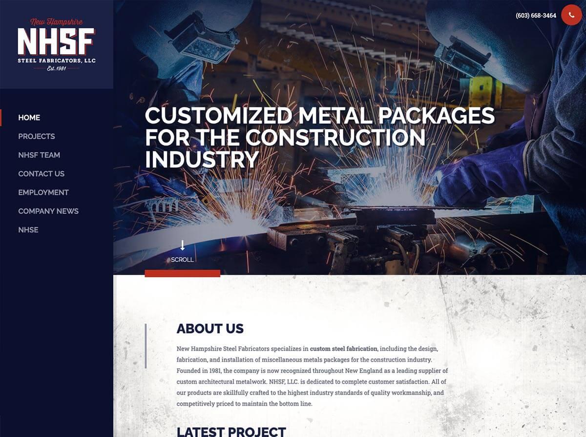 new-hampshire-steel-fabricators-website-design