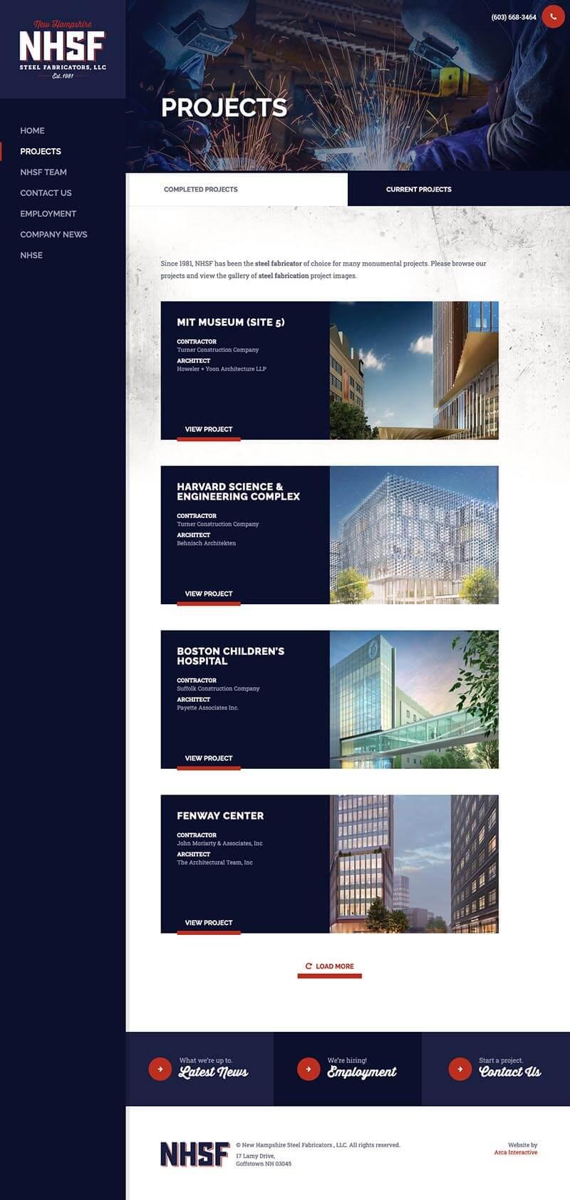 new-hampshire-steel-fabricators-website-development