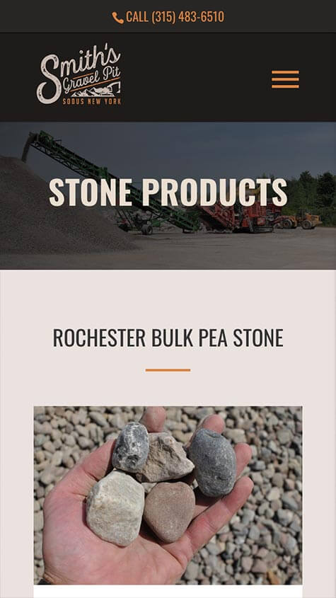 smiths gravel pit responsive design