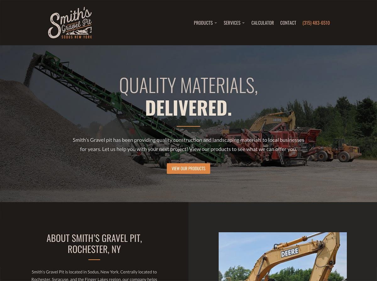 smiths gravel pit website design