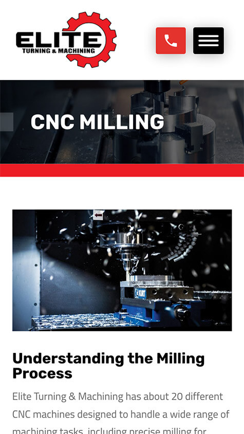 Elite Turning Machining Responsive Website Design