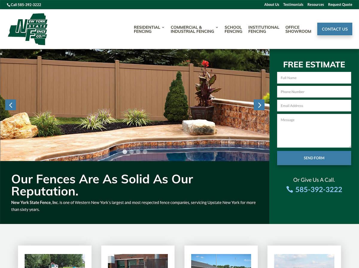 NYS Fence Website Design