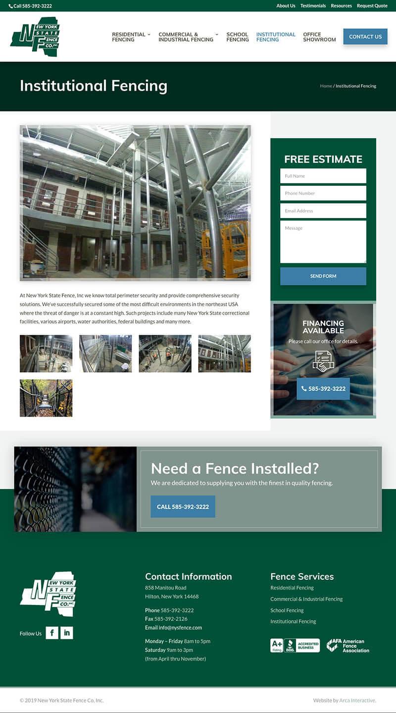NYS Fence Website Development