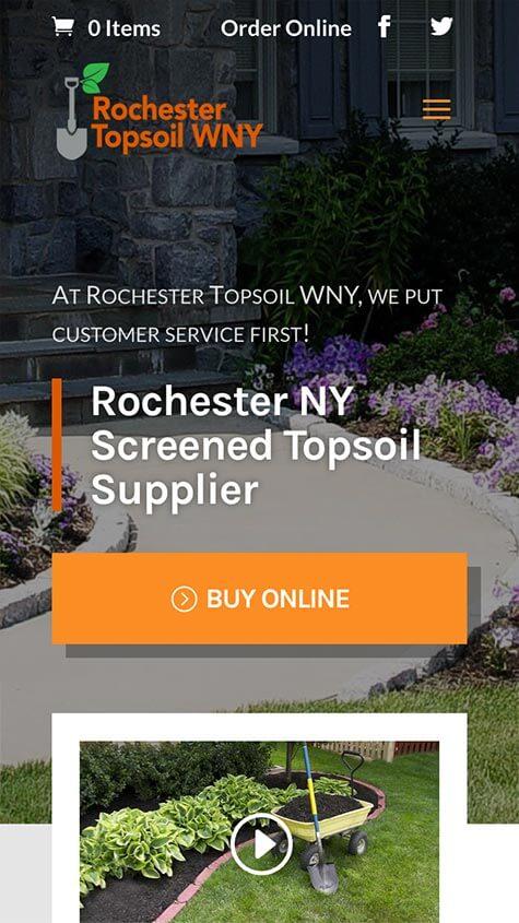 Roc Topsoil Mobile Website Design