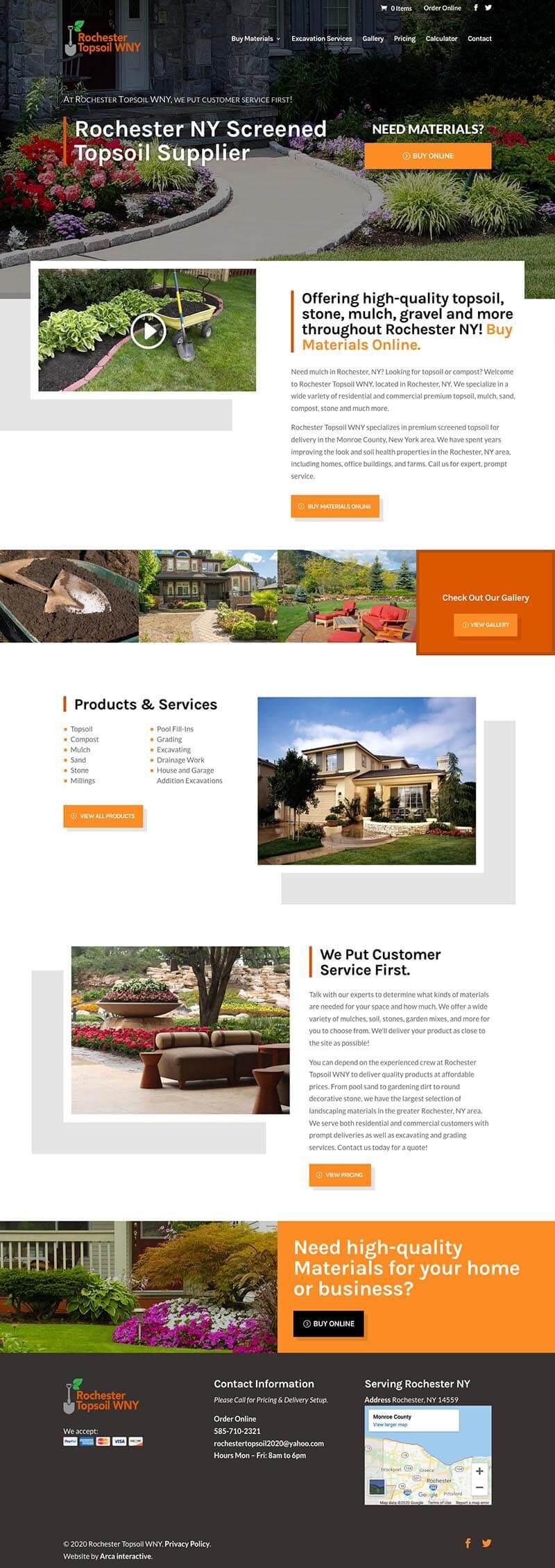 Roc Topsoil Web Design