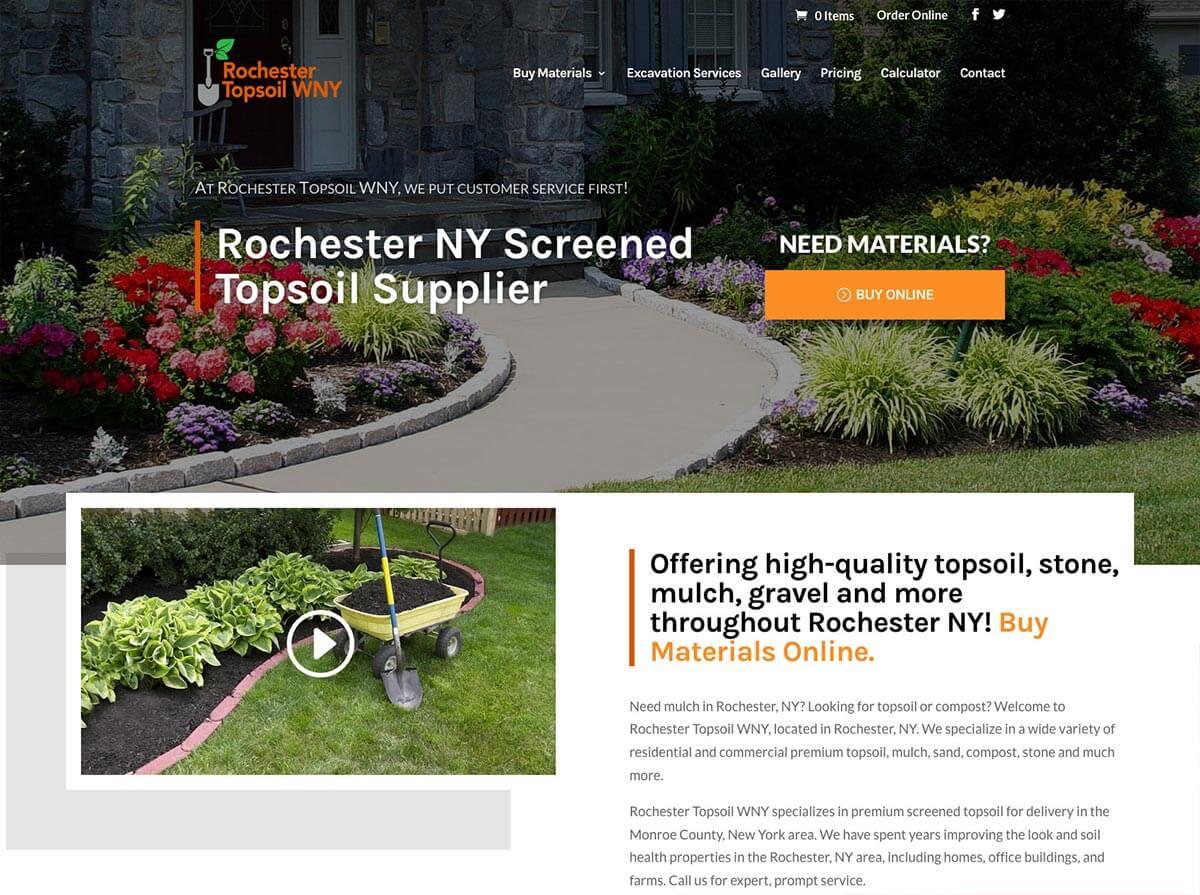 Roc Topsoil Website Design