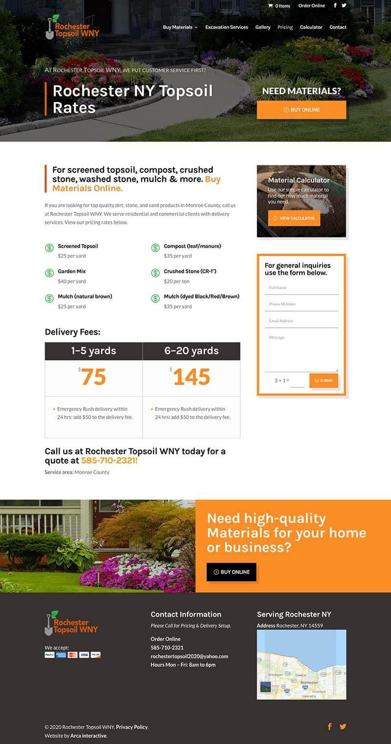 Roc Topsoil Website Development