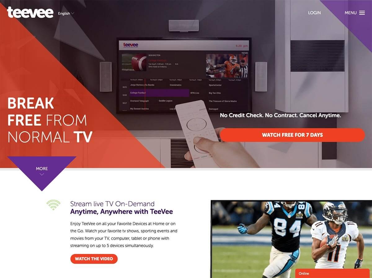 Teevee Website Design