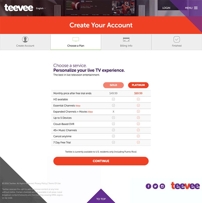 Teevee Website Development