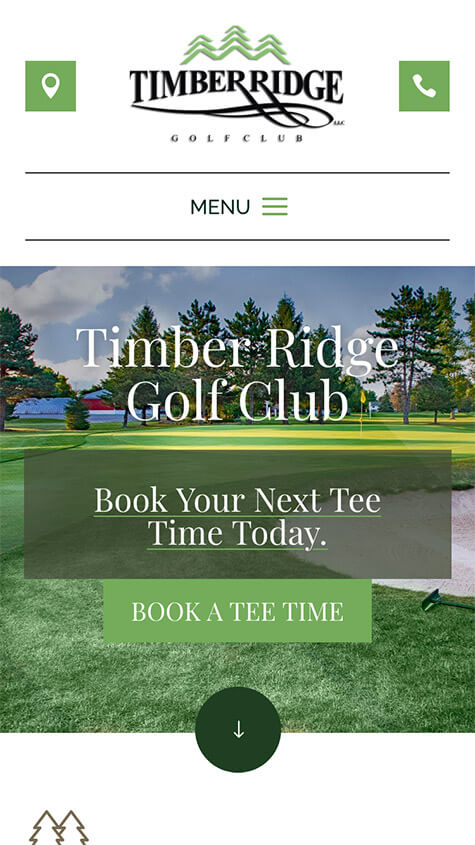 Timber Ridge Golf Mobile Website Design