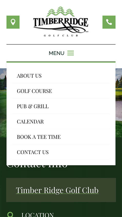 Timber Ridge Golf Responsive Website Design