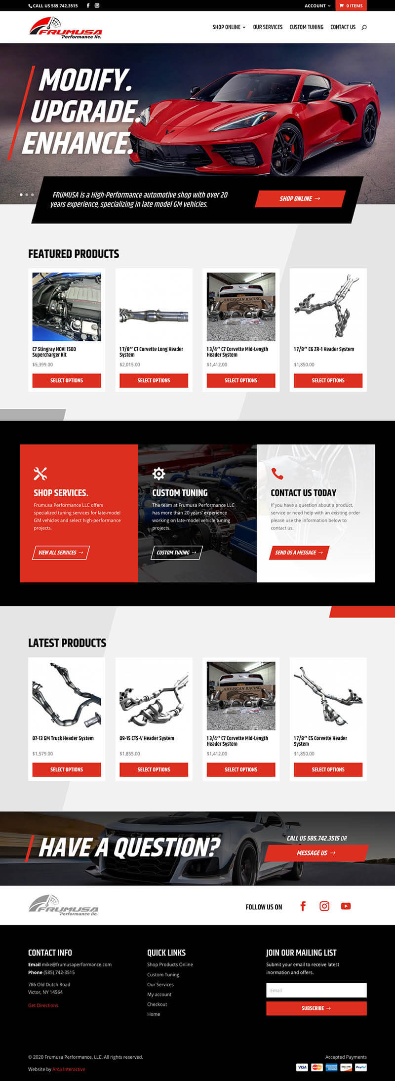 Frumusa Performance Web Design