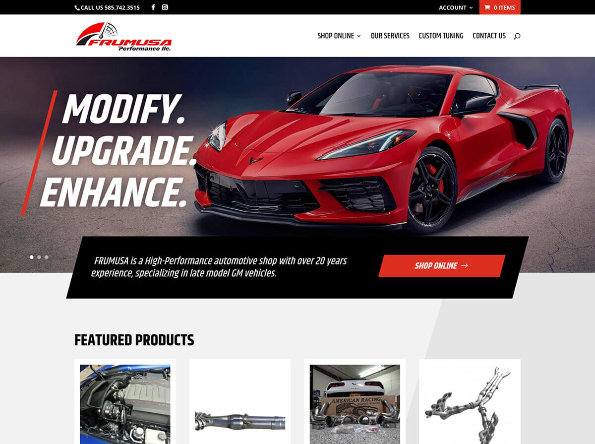 Frumusa Performance Website Design