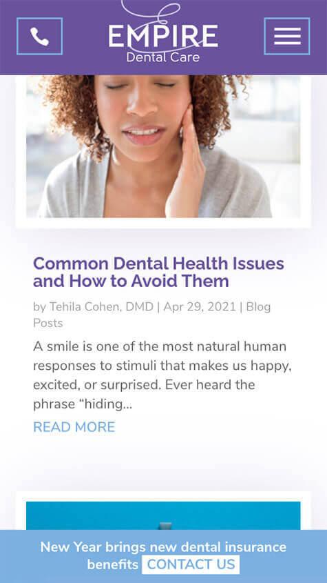 empire-dental-care-mobile-website-design