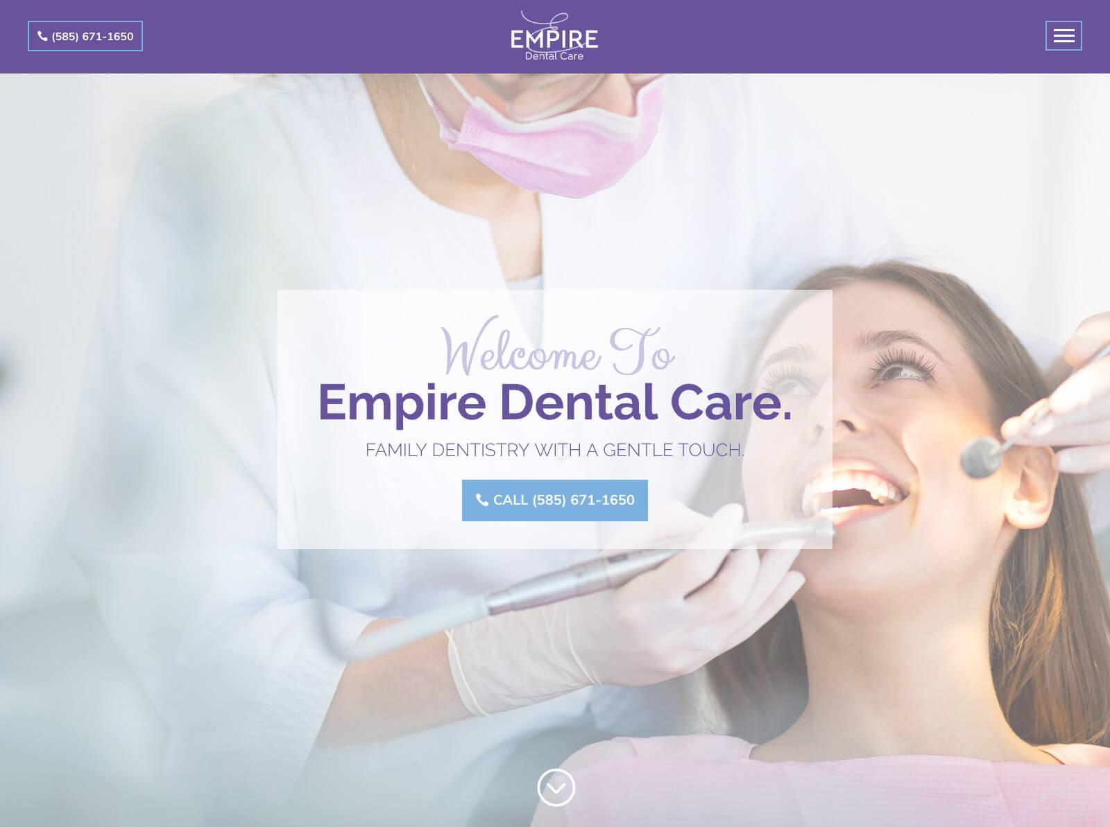 empire-dental-care-website-design
